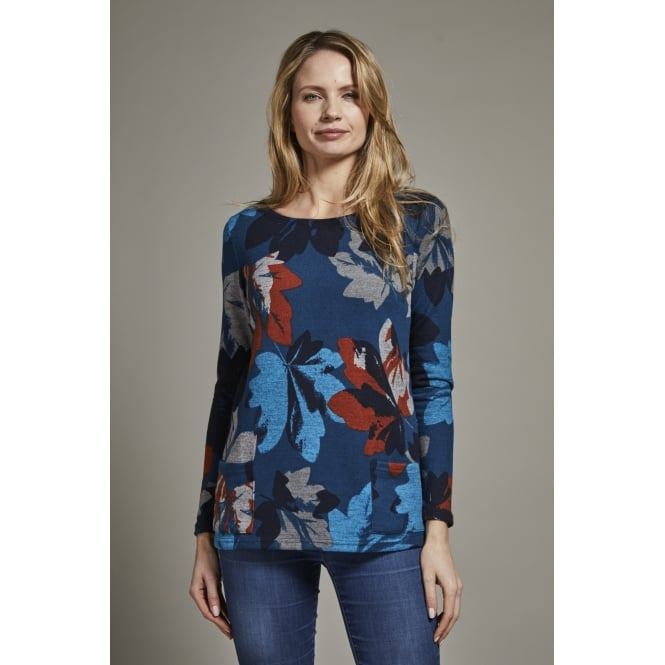 Lily and Me Women's Burford Longline Jumper Winter Leaf