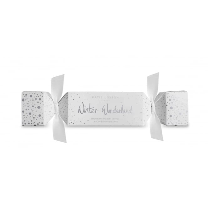 Katie Loxton Winter Wonderland Tealight Cracker in Snowberry And Soft Cotton