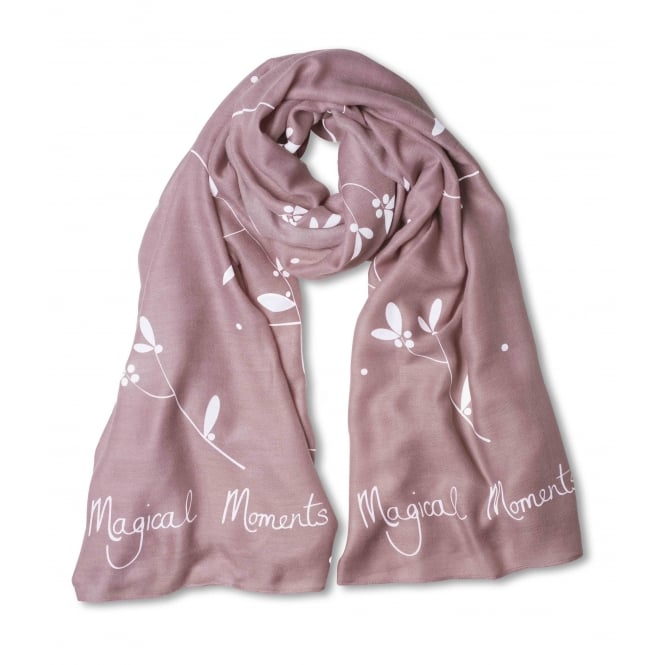 Katie Loxton Dusky Pink Sentiment Scarf Magical Moments