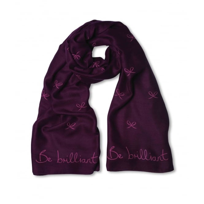 Katie Loxton Be Brilliant Purple Berry Sentiment Scarf