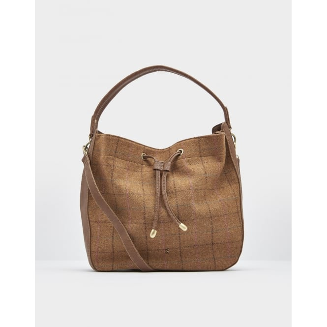 Joules Beau Tweed Hobo Bag
