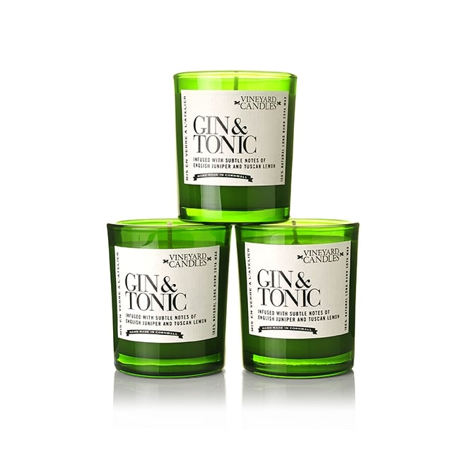 Vineyard Candles Gin and Tonic Shot Glass Candles