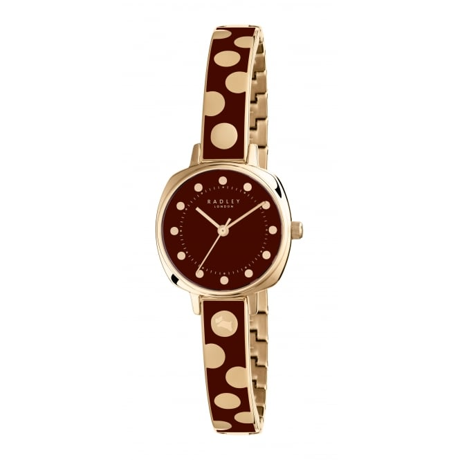 Radley Kennington Spot Enamel Gold & Port Stainless Steel Bracelet Watch