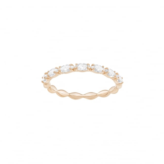 Swarovski Vittore Marquise Ring, White, Rose gold Plating