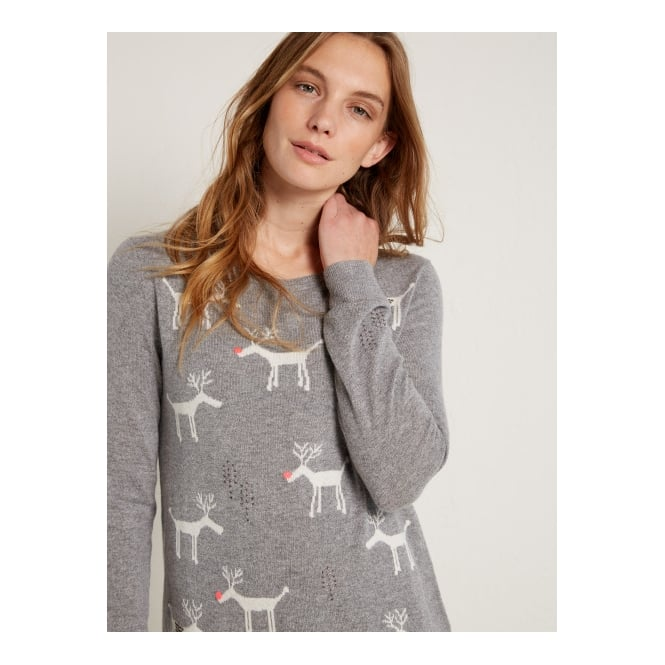 White Stuff Stanely Stag Jumper