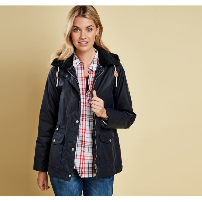 Barbour Women's Pembrey Wax Hooded Jacket