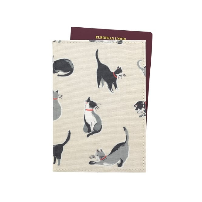 Cath Kidston Small Painted Cats Passport Holder