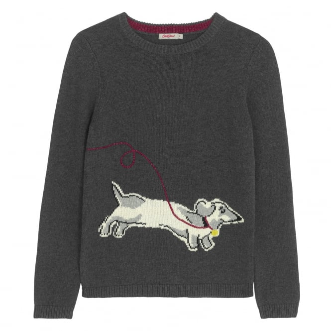 Cath Kidston Dog Intarsia Jumper Mono Dog Placement S