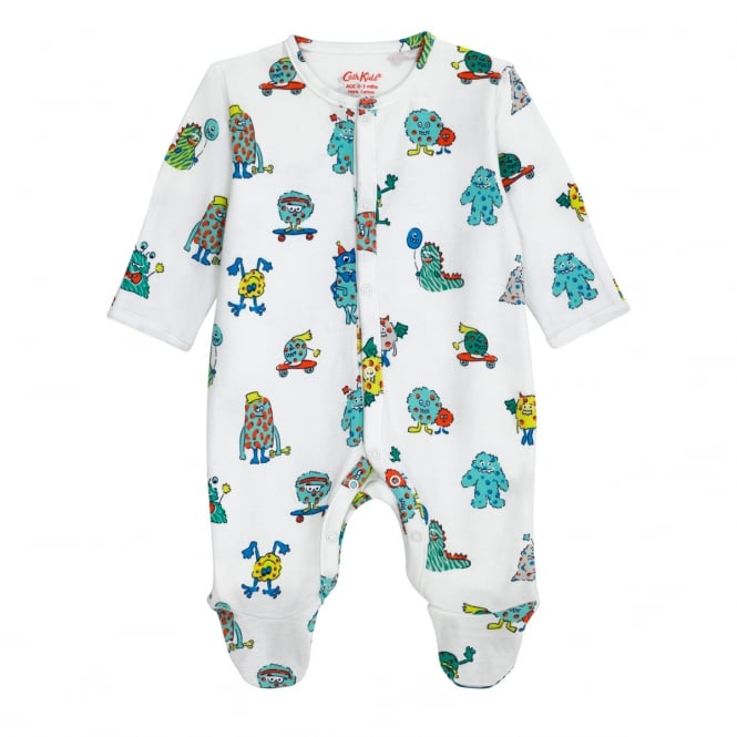Cath Kidston Mini Monsters Baby Sleepsuit 6-12 Months
