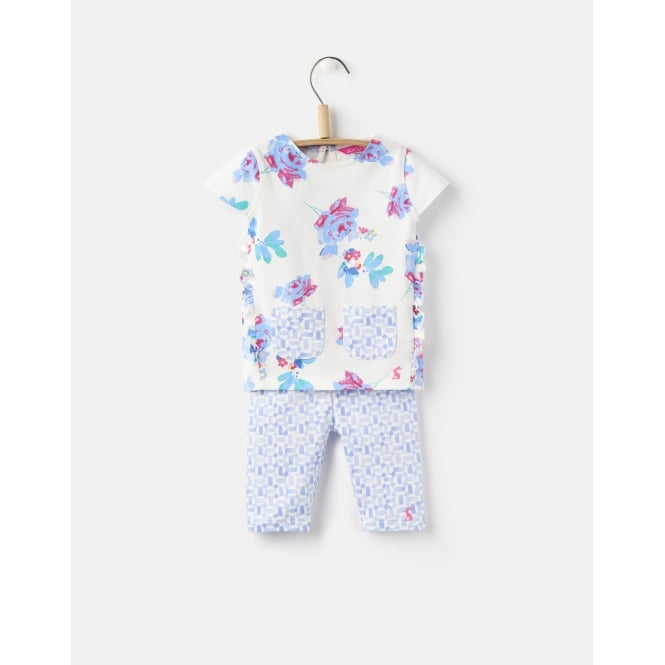 Joules Baby Girls Paula Frill Top and Legging Set