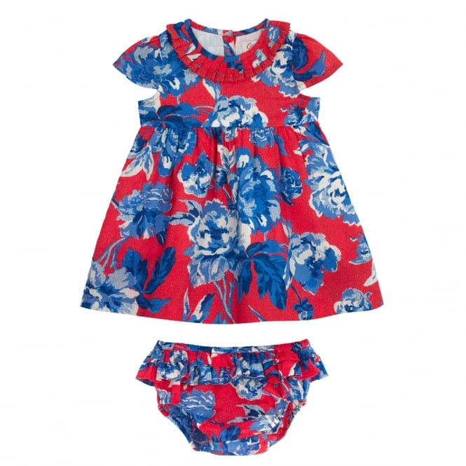 Cath Kidston Whitby Rose Baby Dress With Lace Collar 6-12 Months