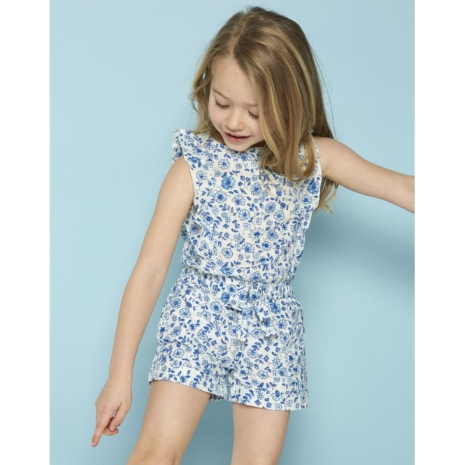 Joules Young Girls Elle Frill Detail Playsuit