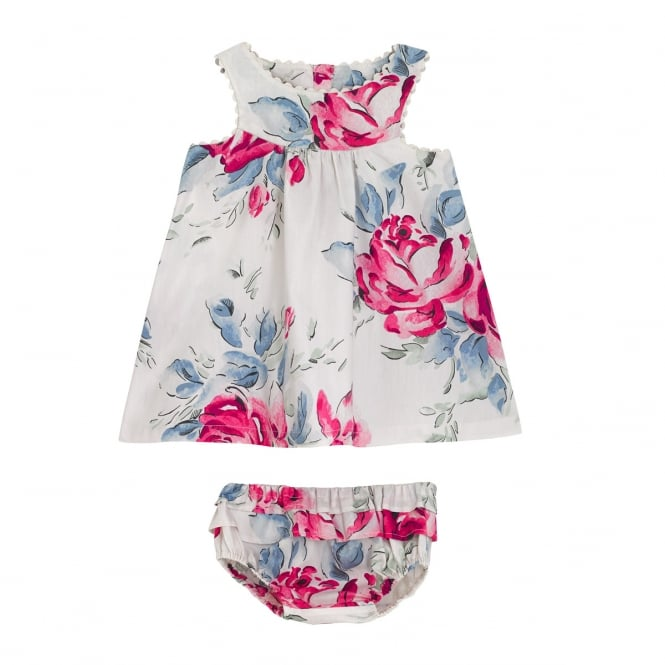 Cath Kidston Baby Birthday Rose Eleanor Dress with Brief 6-12 Months