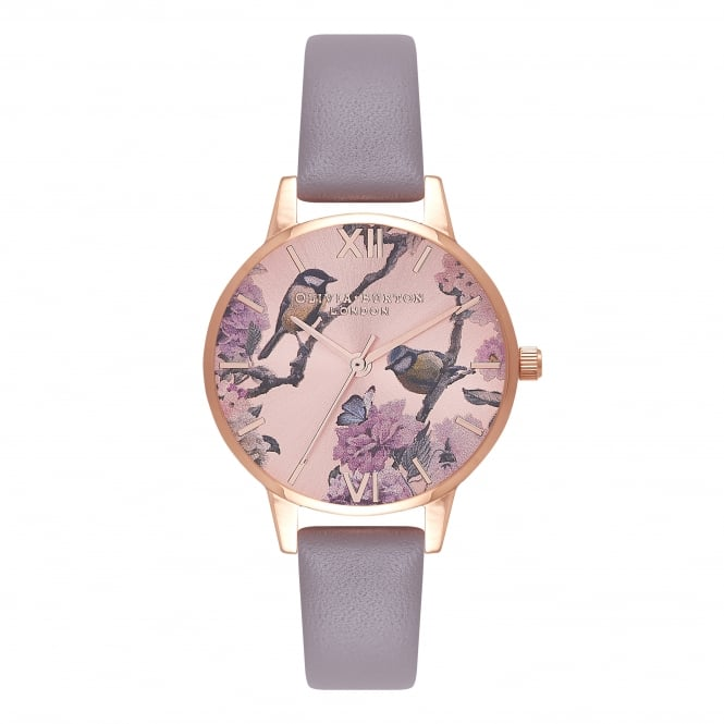Olivia Burton Pretty Blossom London Grey & Rose Gold Watch