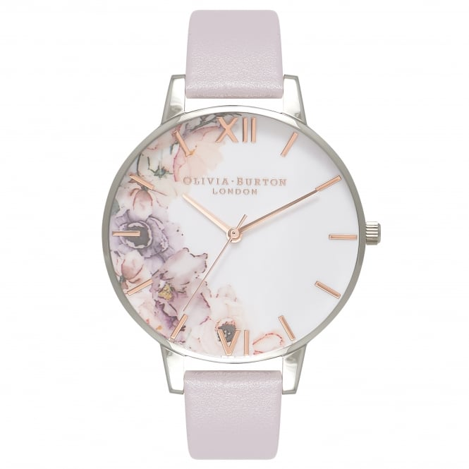 Olivia Burton Watercolour Florals Rose Gold & Silver Watch
