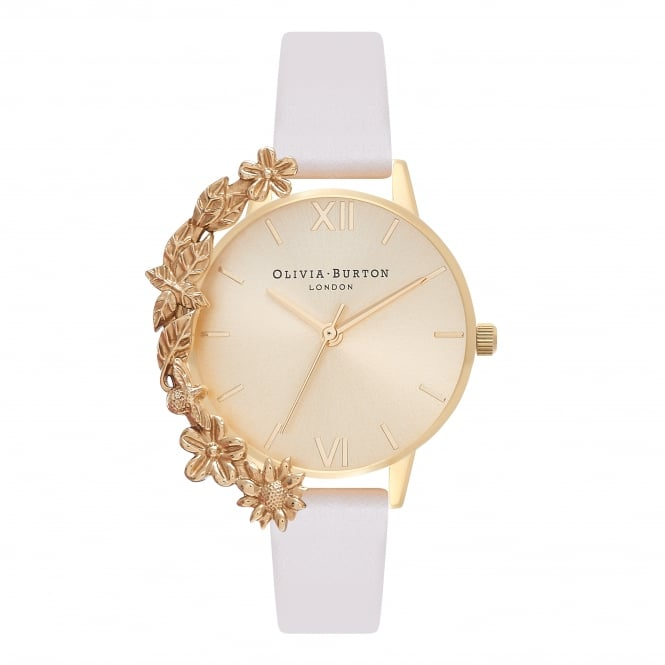 Olivia Burton Case Cuff Nude & Gold Watch