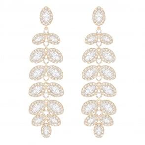 b0114c3f3 Swarovski Bella 'V' Pierced Earrings in Rose Gold and Grey 5299317