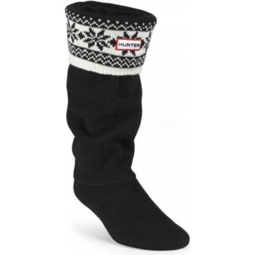 Fair Isle Cuff Welly Sock