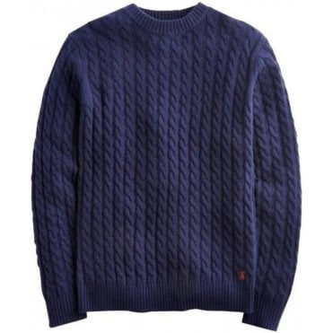 Mens Ewan Cable Knit Jumper