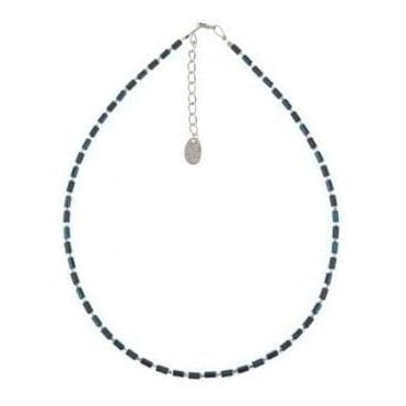 Cobalt Geo Tube Necklace