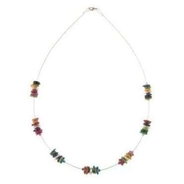 Rainbow Shell Spaced Necklace