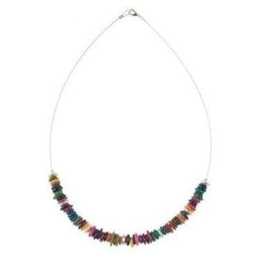 Rainbow Shell Links Necklace