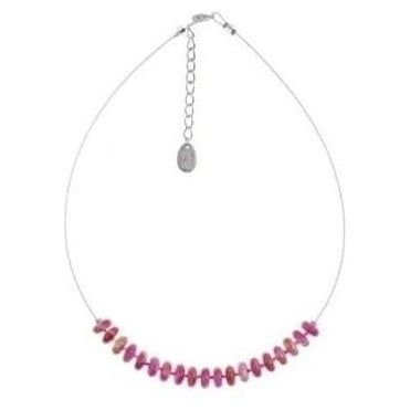 Pink Tie Dye Necklace