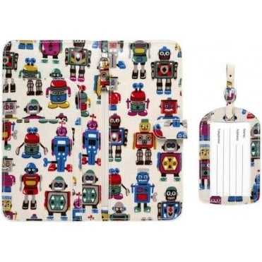 Robots Travel Wallet and Luggage Tag