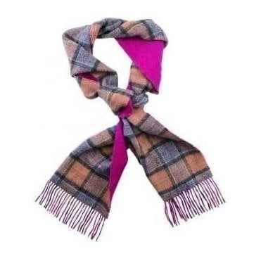 Double Faced Check Scarf