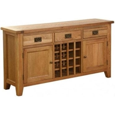Pembroke 3 Drawer 2 Door Wine Table