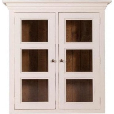 Farmhouse Small Hutch with Glazed Doors
