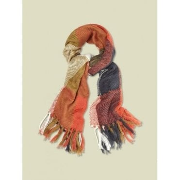 Women Oversize Check Midweight Scarf