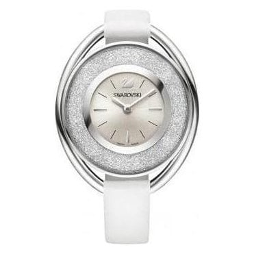 Crystalline Oval White Watch