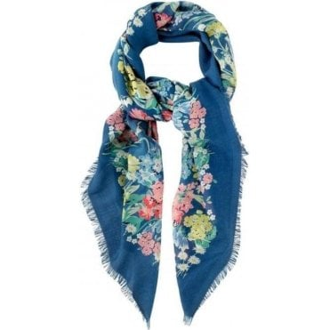 Herbaceous Border Woven Printed Shawl
