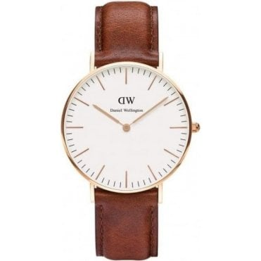 Ladies St Mawes Rose Brown Leather Watch 0507DW