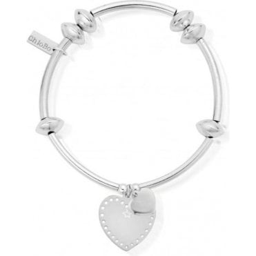 Iconic Noodle Disc Pin Prick Mini Heart Bracelet