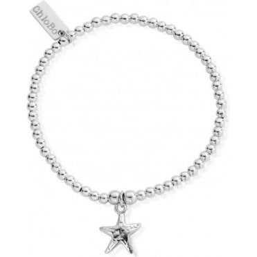 Iconic Cute Silver Starfish Charm Bracelet
