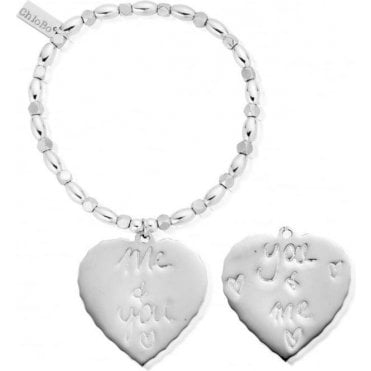 Fancy Rice You and Me Heart Bracelet