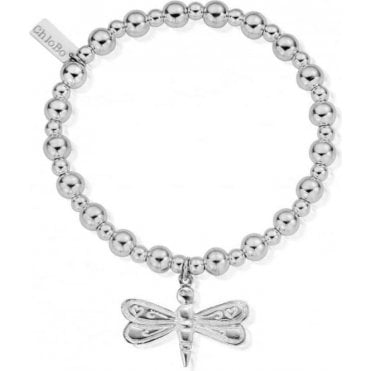 Iconic Silver Mini Small Ball Large Dragonfly Bracelet