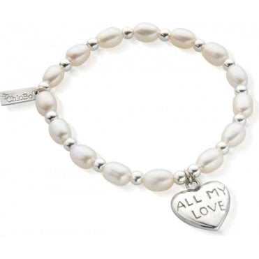 Pearl Medium All My Love Bracelet