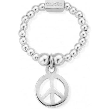 Small Silver Mini Peace Ring SRM1107