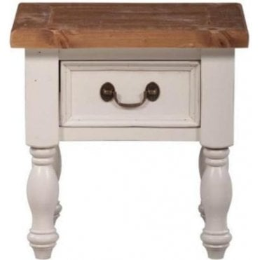 Farmhouse Lamp Table with 1 Drawer
