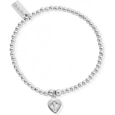 Cute Charm Cross In Heart Bracelet SBCC013