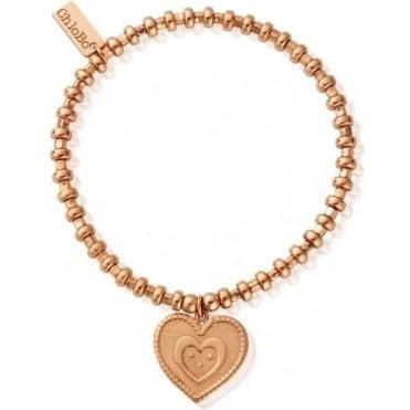 Rose Gold Hoop Heart In Heart Bracelet RBH85