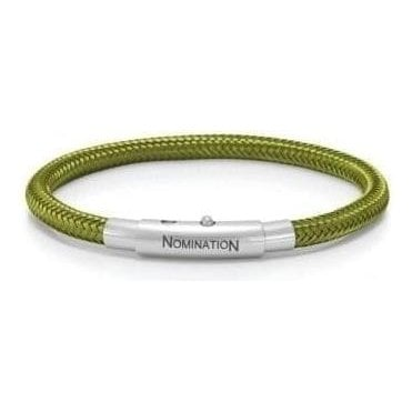 You-Cool Bracelet In Stainless Steel And Copper (025_Military Green)