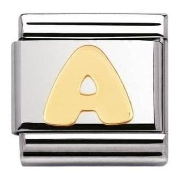 Stainless Steel And 18K Gold Composable Letters 'A'