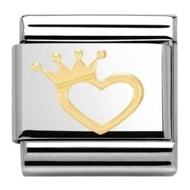 Composable Classic Link Love Heart With Crown (030116/17)