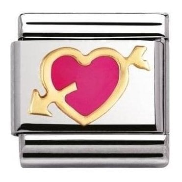 Composable Classic Link Love Fuchsia Heart With Arrow (030207/14)