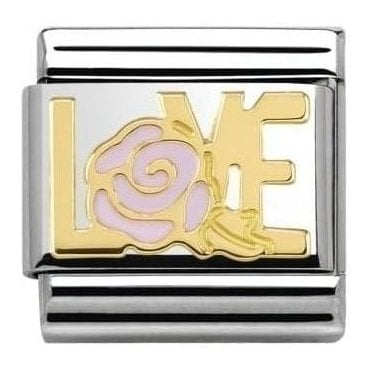 Love/Pink Rose Composable Charm