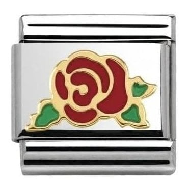 Red Rose Composable Charm